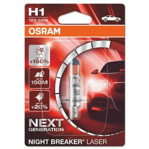 43-1864 | Osram Night Breaker Laser H1-pirn +150% 12 V / 55 W