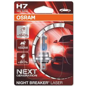 43-1866 | Osram Night Breaker Laser H7-pirn +150% 12 V 55 W