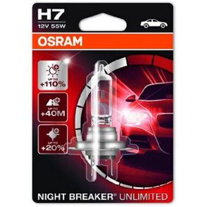 43-1987 | Osram Night Breaker Unlimited H7-autopirn +110% 12 V