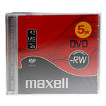 Maxell-DVD-RW-plaat-2x-47GB-JewelCase-5-tk