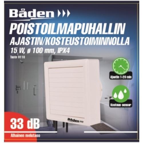 75fca9b8d6e Vannitoa ventilaator niiskusanduriga ø100 mm 15 W IPX4 | Motonet OÜ