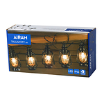 Airam-Tallilatern-LED-lambikomplekt-10-tk-must-IP44