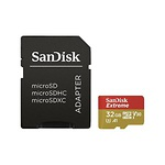 SANDISK-MicroSDHC-Extreme-32-GB-100-MBs-UHS-I-U3-Class-10--adapter