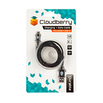 Cloudberry-Micro-USB-kaabel-12-m-must