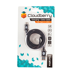 Cloudberry-USB-Type-C-31-kaabel-12-m-must