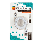 Cloudberry-Micro-USB-kaabel-2-m-valge